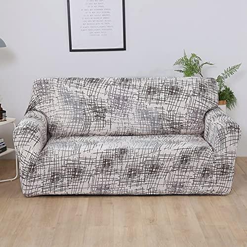 ASCV Elastische Sofabezug für Wohnzimmer Sofa Handtuch rutschfeste Sofabezug für Haustiere Strench Sofa Schonbezug Set A7 2-Sitzer