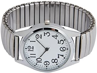 SUNXIN Pulsera analógica, reloj de pulsera de arte,Pulsera de acero inoxidable,Decoracion,Regalo,Carcasa de aluminio,Movim...