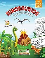 dinosaurios libro de colorear para niños: de 4 a 6 Años, T-Rex, brontosaurio, estegosaurio y muchos otros por descubrir, el gran libro para colorear de dinosaurios!