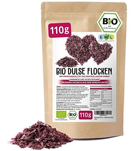Dulse Algen Bio Dulse Flocken Lappentang aus dem Atlantik Bio 110 Gramm aus biologischem Anbau