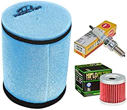 Tune up Kit Pre-oiled Air Filter Oil Filter Spark Plug for Suzuki LTZ 400 Kawasaki KFX Arctic Cat DVX