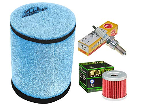 Tune up Kit Pre-oiled Air Filter Oil Filter Spark Plug for Suzuki LTZ 400 Kawasaki KFX Arctic Cat DVX