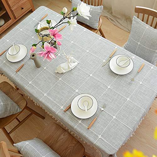 LIUJIU El mantel de vinilo El mantel de PVC puede limpiar picnic interior/exterior, barbacoas y cubiertas de mesa, 110 x 110 cm