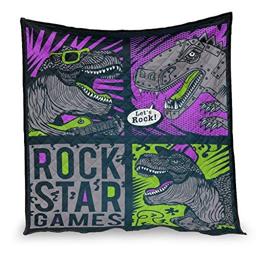 IOVEQG Algodón Pesado Mantas/Quilts Dinosaurio juegos ligero viaje manta para niños adultos blanco 200x230cm