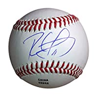 Ronald Guzman Texas Rangers Autographed Signed Baseball with Exact Proof Photo of Ron Guzman Signing and COA