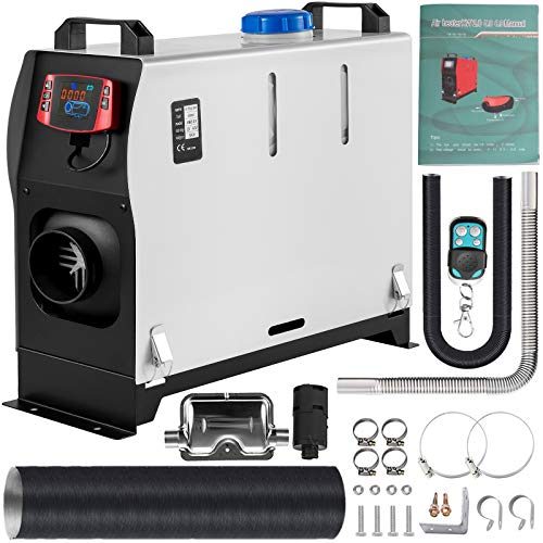 VEVOR Diesel Air Heater All in One,Muffler, 5KW Diesel Heater 12V,Fast Heating, Diesel Parking Heater with LCD Switch & Remote Control For Truck, Boat, Car Trailer, and Caravans