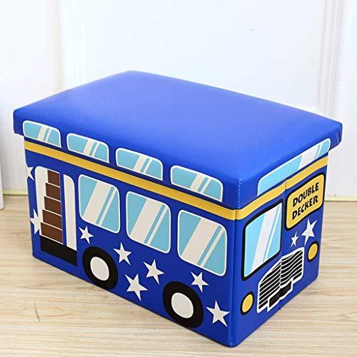 BDWY lederen kussen cartoon bagage kruk opvouwbare kunstmatige bus ijsman draagbare bank Een