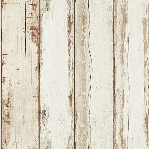 Tapete Holzoptik weiß beige | Vliestapete Holz 368931 | Vintage-Tapete 36893-1 für Wohnzimmer jetzt günstig online kaufen!