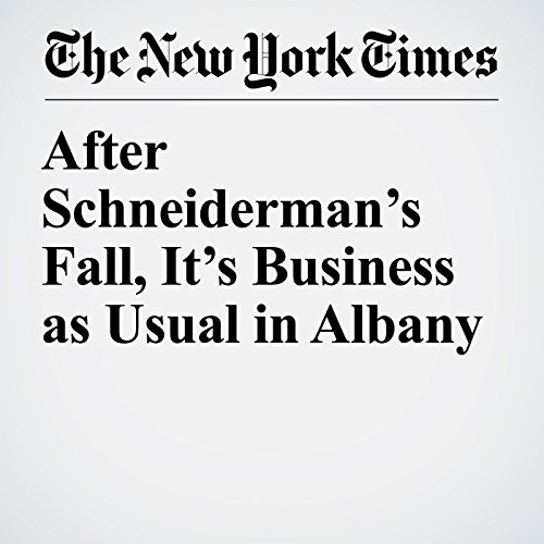 After Schneiderman's Fall, It's Business as Usual in Albany copertina