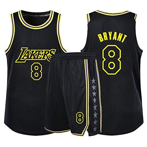 HLW Camiseta de Los Angeles Lakers, Kobe Bryant, Uniforme de Fan # 24, Uniforme de Fan # 8, Camiseta Transpirable, Jersey black8-XXXXXL
