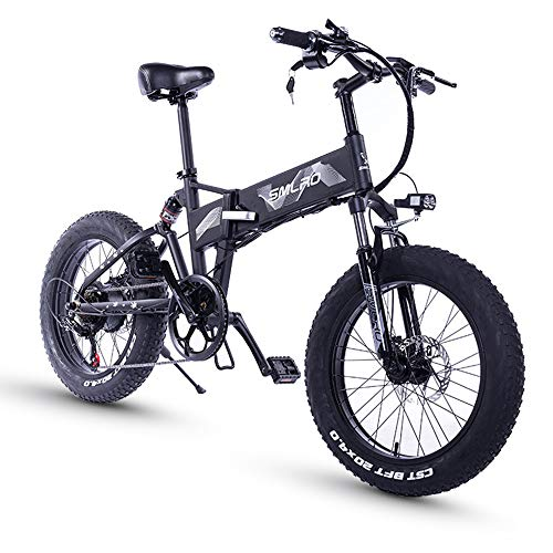 SAWOO 500w Bicicleta Eléctrica Hombres 20 Pulgadas Mountain Ebike Bicicleta Eléctrica Plegable...