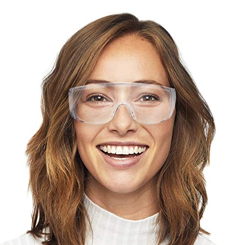 V by Vye | Safety Glasses | 1 Pack Protective Eyewear Anti-Fog Clear Safety Goggles for Men and Women | for Work and Play - Ships Direct from USA