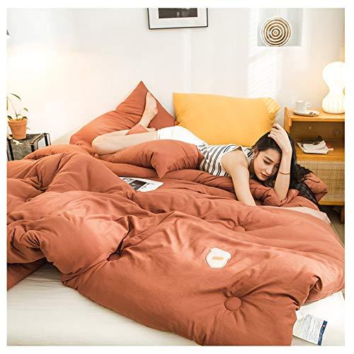 GELing Bettwäsche-Set - Mikrofaser Bettbezug und Kissenbezug,Farbe 4,200X230cm 3kg