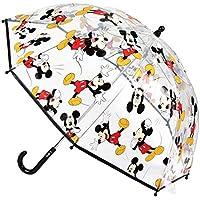 Cerdá-2400-0510 Mickey Paraguas Campana Transparente, Multicolor, Talla Única (2400-0510)