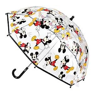 Transparenter Kinder-Regenschirm – mit transparentem Design, damit der Regen neben den Lieblingsfiguren fällt Manueller Regenschirm – manuelle Öffnung und Sicherheitssystem inklusive Gummischutz zum Schutz der Kleinen im Haus Regenschirm für Kinder –...