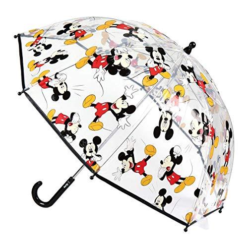 Cerdá-2400-0510 Mickey-Regenschirm, transparent, mehrfarbig, Einheitsgröße (2400-0510), Farbe/Modell sortiert