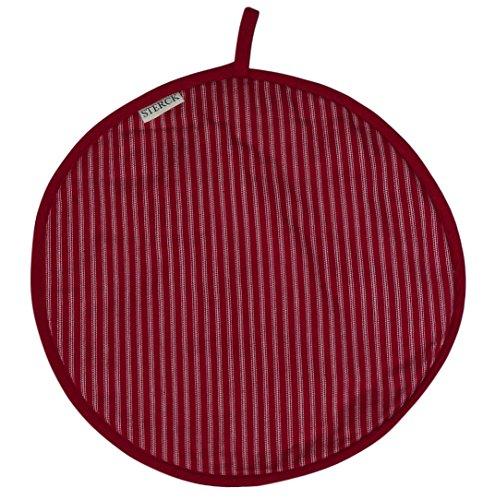 Sterck Cotton Round Striped Cook Aga Pad in Red RNDPADDRRED