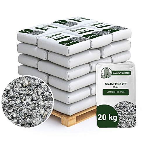 Granitsplitt Deko Splitt Gartenkies Buntkies Grau Fein 8-16mm Sack 20kg x 50Stk (1000kg)