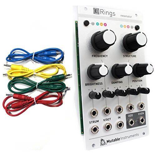 Find Discount Mutable Instruments Rings Resonator Eurorack Module w/ 4 Cables