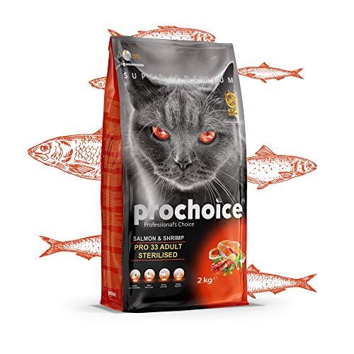 Prochoice - Pro 33 Salmon & Shrimp Formula For Sterilized Cats - 2X2kg