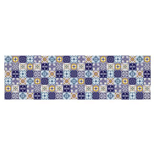 SMGXQ Europäische Fliesenaufkleber, Badezimmer-Dekorations-Farbstreifen-selbstklebendes Papier, Farbmuster-Wand-wasserdichte Aufkleber, 60 * 200Cm