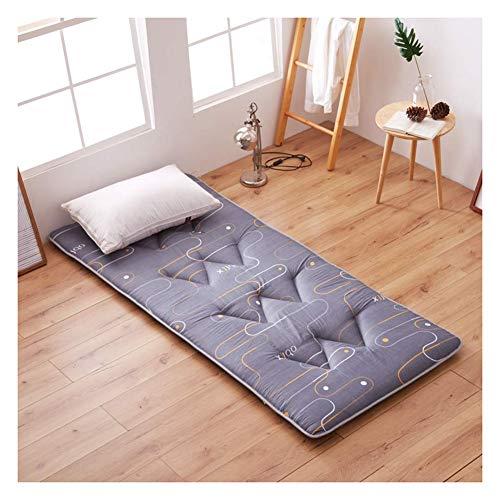 WSGJHB Japanse Tatami vloer matras topper, studentenslaapzaal opvouwbare Tatami matras slaapmat, niet-slip vloermat dubbele enkele matras 90x200cm(35x79