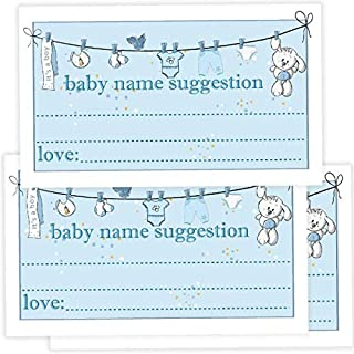 50 Baby Name Suggestions Cards for boys, Printable Green Foliage Baby Name Game, Baby Shower Activity Advice Card, Greenery Shower Decoration, Baby Name Suggestions, Simple Baby Shower Games.