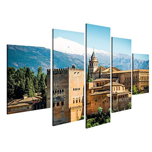 islandburner Cuadro Cuadros Vista de la Famosa Alhambra, Granada, España Genial y Muy Bonito! NOL