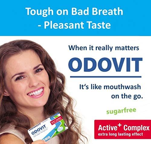 Mundgeruch – dagegen hilft ODOVIT : 5x Mundpflege-Bonbons 10er – Stark gegen Mundgeruch – mild im Geschmack – für nachhaltig frischen Atem - 2