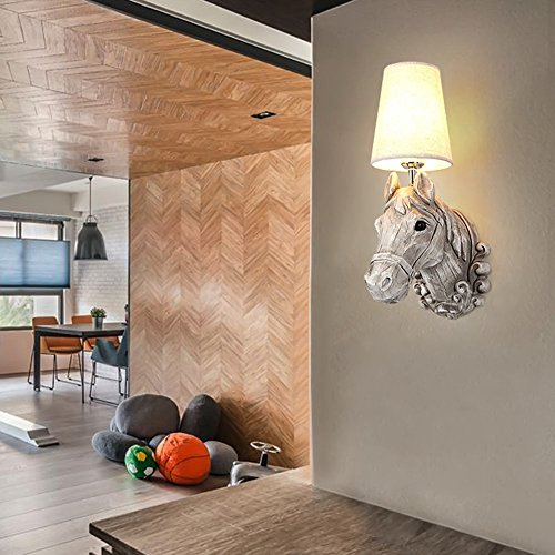 5151BuyWorld Horsehead, creatief, modern, minimalistisch, wandlamp, bedlamp, slaapkamer, woonkamer, bar, badkamer, LED, decoratieve verlichting
