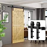 U-MAX 6.6 FT Sliding Barn Wood Door Basic Sliding Track Hardware Kit (Basic'J')