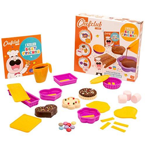 CHEFCLUB KIDS L'Atelier Barres Chocolatés Best Friends-Kit de Cuisine pour Les Enfants-À partir de 3 Ans, 430458