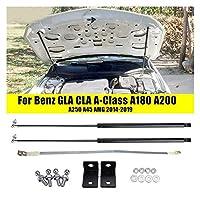 車用リアダンパー カーボンネットフードガスショックリフトストラットためにベンツGLA CLA AクラスA180 A200 A250 A45 AMG 2014-2019