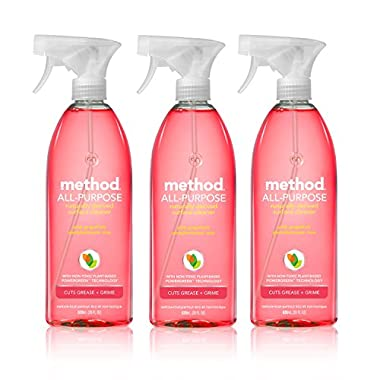 Method All-purpose Natural Surface Cleaner, Pink Grapefruit, 28 ounce (3 Count)