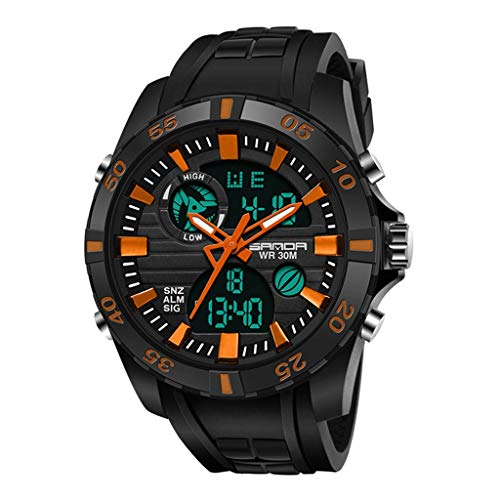 GLEMFOX heren digitaal horloge waterdicht sporthorloge met wekker/timer, heren outdoor sports Luminous horloge paar elektronische horloges Riemen. Large #5