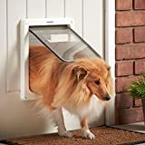 MILO & MISTY 2 Way Locking Dog Flap Pet Door - White, Medium
