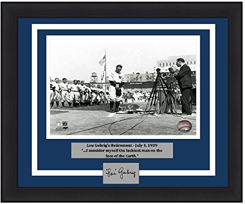 Lou Gehrig New York Yankees MLB 16x20 Photograph Retirement Speech