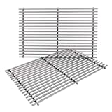 Replacement Grates for Weber Genesis E-310 E-330, Genesis 300 Series Gas Grill Replacement Parts, Stainless Steel, 19.5 x 12.9 Inch, 2-Pack