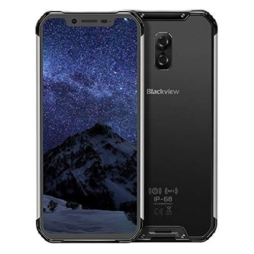 BV9600- Android 8.1 4G LTE屋外スマートフォン、6.21インチ19:9 FHD AMOLEDディスプレイ、Helio P70(6771T)4GB + 64GB、5580mAhバッテリー、IP68 / IP69K防水/防塵、NFC (グレー)