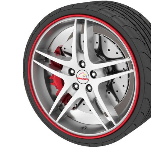"""GoBadges RB01 Red Rim Blade, (fits 4 wheels up to 22"""")"""