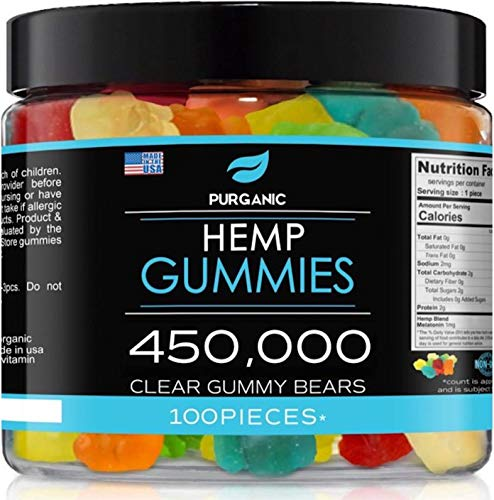 Gummies for Stress & Relaxation – 450000 - Great for Stress, Insomnia & Anxiety Management – Made in USA – Tasty & Relaxing Gummies – 100ct