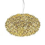 Bloom Sfera S1 - Lampadario a sospensione, oro lucido, dimensioni 2 H x Ø: 35 x 53 cm