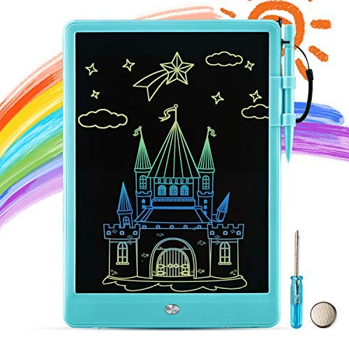Plavision LCD Writing Tablet for Kids: 10quot Toddler Electronic Colorful Drawing Board Magic Doodle Scribbler Pad for 2 3 4 5 6 Years Old Boy Girls Educational Learning Games Birthday Gift Toys