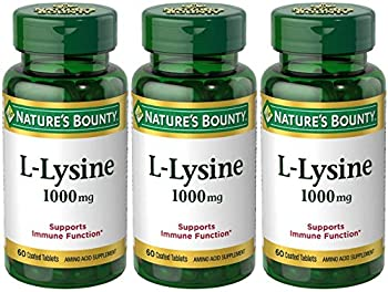Nature s Bounty L-Lysine 1000mg 180 Tablets  3 x 60 Count Bottles