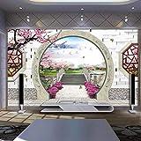 dalxsh carta da parati 3d espansione spaziale giardino cinese carta da parati tv soggiorno divano studio sfondo camera da letto murale-280x200cm