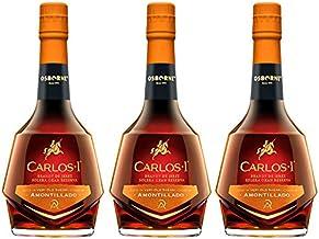 Brandy Carlos I Amontillado de 70 cl - D.O. Jerez - Bodegas Osborne (Pack de 3 botellas)