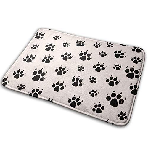 Yaxinduobao Entry Mat,Dog Footprints III Carpet 40x60cm Non-Slip Stain Fade Resistant Door Mat Outdoor Indoor Mat Room Rug