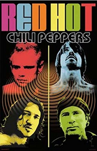 Red Hot Chili Peppers - Quad Color Quad Poster Drucken (60,96 x 91,44 cm)