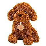 jojofuny Teddy Dog Doll Hora de Dormir, Juguete Figura ,Lindo Peluche Suave,Caniche Teddy Perro, niños Figura (marrón Claro)
