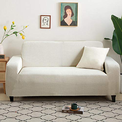 Nordic Solid Color Knitted Thick Sofa Cover Four Seasons General Non-Slip Sofa Towel Fabric Washable Durable Easy To Install Sofa Cushion Cover
